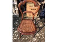 Pretty vintage wicker bedroom chair
