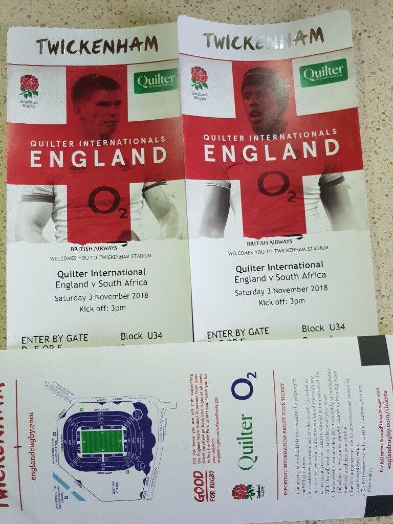 828949cc803 2 x England vs South Africa Rugby Tickets, Saturday 3rd Nov, Twickenham  Stadium