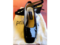 Woman's / Girl's Patent Leather Open-toe Sling Back Shoes - Size 5