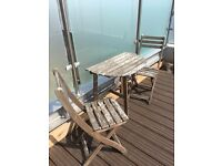 FREE - Outdoor Table + 2 Chairs