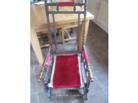 Antique american rocking chair exellent frame & springs