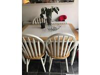 Country kitchen style table and 3 chairs
