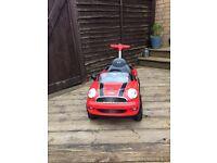 Mini Cooper push along car