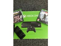 Xbox One 500gb with Rise of the Tomb Raider and Call of Duty WWII