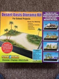 scene a rama desert oasis diorama kit