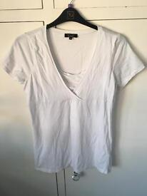 New Look white maternity/nursing top size 16