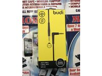 Budi 3.5mm Audio L- Shape Cable 90 Degree Right Angle 4-Conductor Auxiliary Stereo Aux Cable 4 Feet