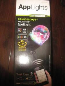 Lightshow - App Lights Kaleidoscope LED 49 Effect Holiday Projector. Projection Light. Bluetooth. Red. Green. Blue White