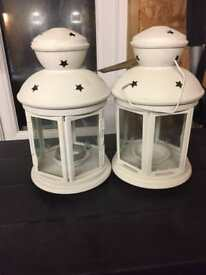 Two candle lanterns for sale