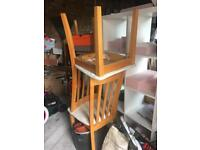 6 solid wood dining chairs FREE