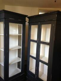 A pair of display shop home cabinets