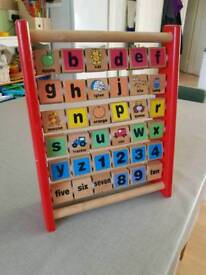 Wooden alphabet toy