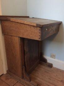 Solid wooden school desk