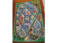 Play mat road and town scene