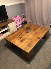 Solid large coffee table. Very heavy