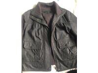 Next ladies size 14 grey leather jacket worn at least twice