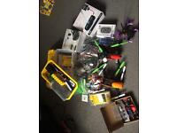 Race drones, google and box full of parts