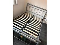 Double bed metal frame quick sale