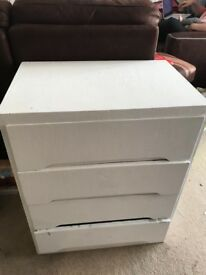 Painted white Chest of drawers Free to Collect
