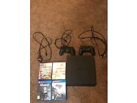 PS4 slim x2 pads x4 games.. HARDLY USED!!