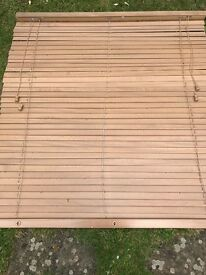 Wooden Oak Affect blinds x 4 sets