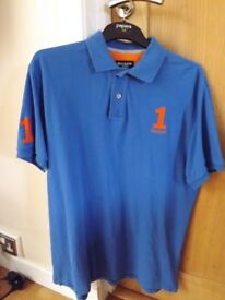 Hackett Polo Shirt Size L Tailored Fit