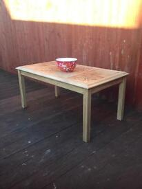 Hand painted 1970s retro shabby chic coffee table, bargain can deliver