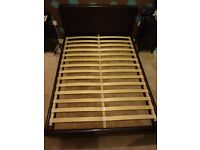 Faux Leather Dark Brown/Chocolate Double Bed Frame