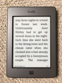 Amazon Kindle Touch (4th Generation) 4GB, Wi-Fi + 3G (Unlocked), 6in - Silver