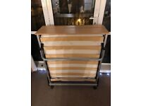 Single Foldaway Bed With Mattress Excellent Condition Bargain