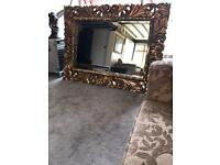 Extra large gold mirror