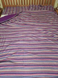 Multicoloured striped Double duvet cover set