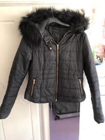 New look black padded jacket