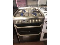 60CM STAINLESS STEEL INDESIT GAS COOKER