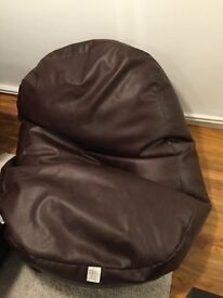Large Brown Bean Bag - Good Condition