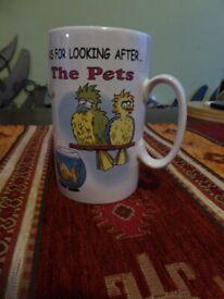 Mug present for pet looker after