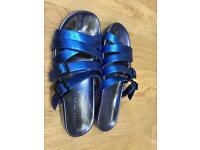 Bright blue Slippers size 38 ALDO
