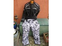 OCEANIC WINDTEX SAFETRAX MOTORCYCLE JACKET&OCEANIC CAMOUFLAGE TROUSERS