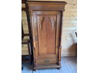 Antique Pine Carved Cabinet