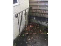 Iron door railings corner stairs
