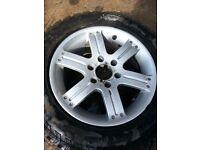 mitsubishi alloy wheel and new tyre 18 inch L200 shogun
