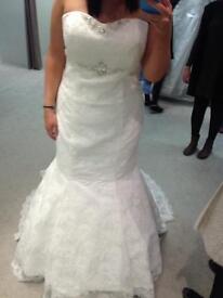 Beautiful lace fishtail wedding dress