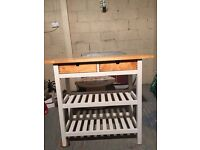 Butchers style table