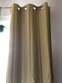 Yellow Dunelm curtains