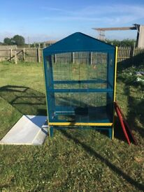 large heavy duty metal bird cage