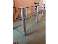 ***FREE TO COLLECTOR*** Long Heavy Duty TV DVD Audio Sky Virgin PlayStation Stand Shelf