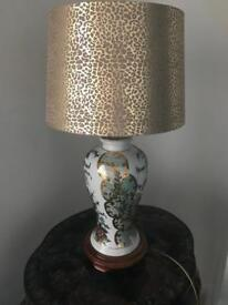 Chinese style lamp on wooden base