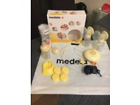 Medela maxi swing double breast pump plus extras