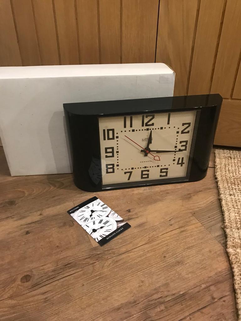 Newgate The Metro Black Retro Wall Clock