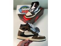 Nike air Jordan 1 retro high mocha Travis Scott UK 9.5 trainers sneakers